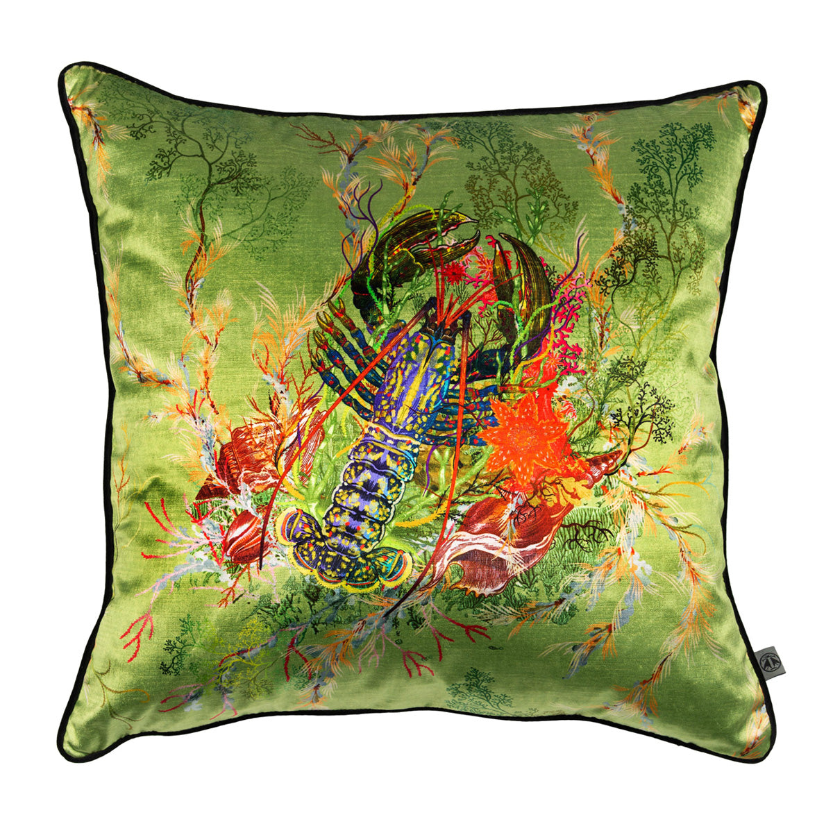 lobster velvet cushion, timorous beasties, accessories | pillows and cushions, - adorn.house