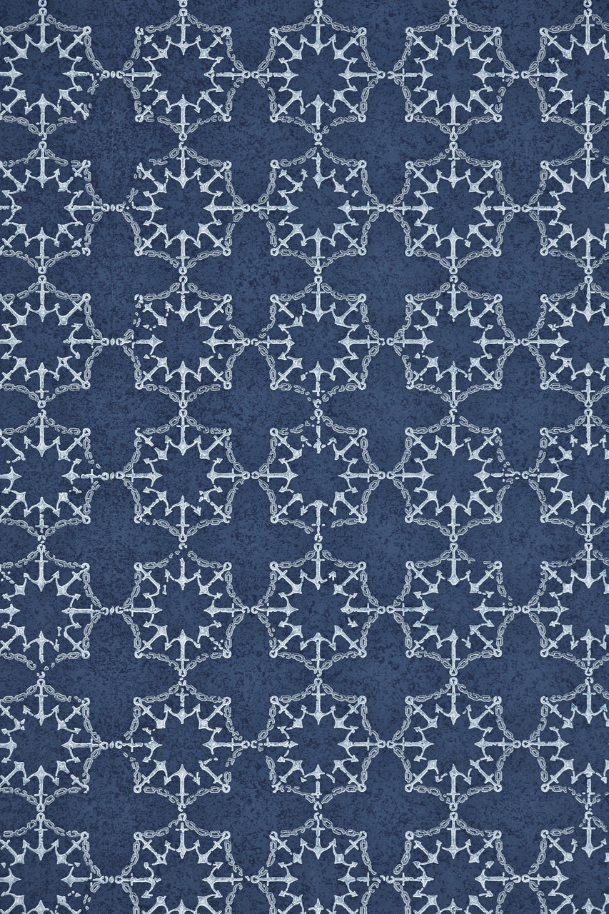 anchor tile, Barneby Gates, wallpaper, - adorn.house