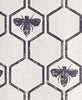 charcoal honey bees fabric barneby gates adorn.house