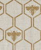 gold honey bees fabric barneby gates adorn.house