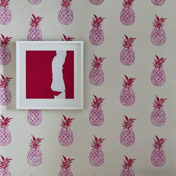 pineapples, Barneby Gates, wallpaper, - adorn.house
