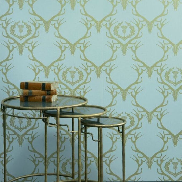 deer damask, Barneby Gates, wallpaper, - adorn.house