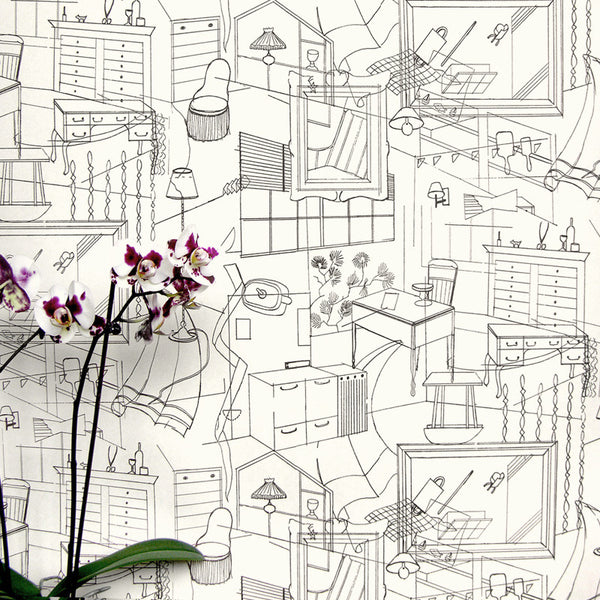 homes, erica wakerly, wallpaper, - adorn.house