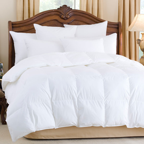 nirvana 700 fill power white goose down comforter, downright, insert, - adorn.house