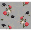 black robin, half full, wallpaper, - adorn.house