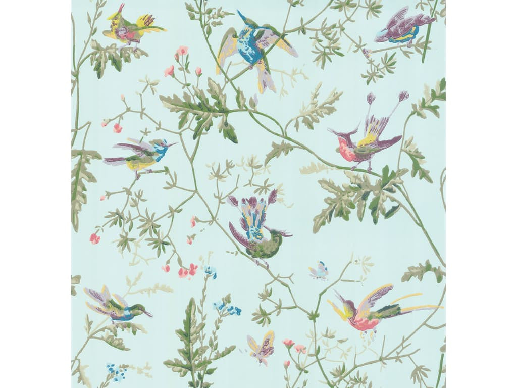hummingbirds, cole and son, wallpaper, - adorn.house