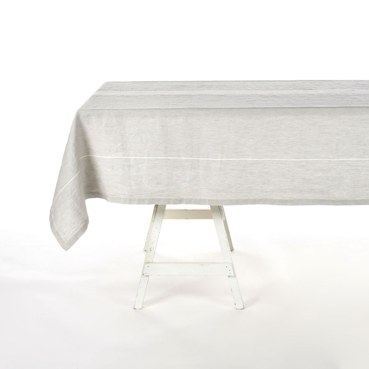 atelier stripe tablecloth, libeco, table linen, - adorn.house