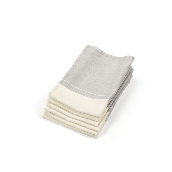 atelier stripe guest towel, libeco, bath towel, - adorn.house