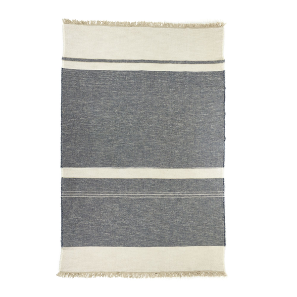 north sea stripe throw, libeco, blanket | throw, - adorn.house