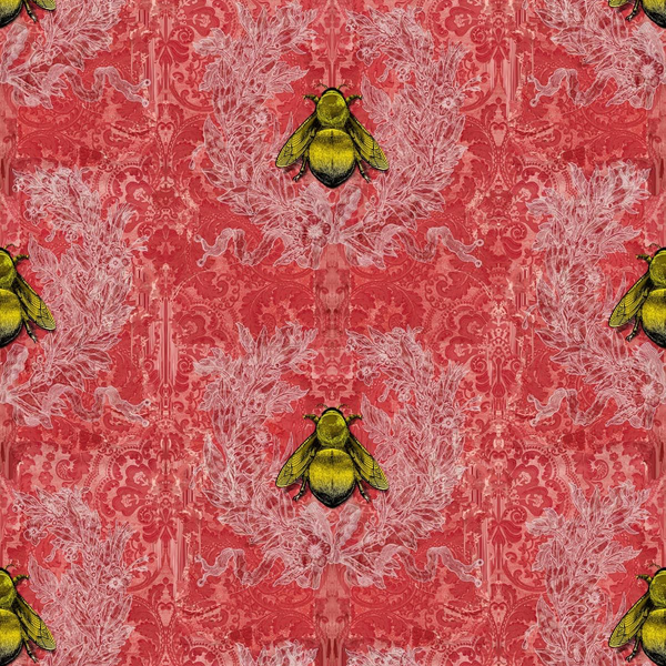imperial apiary wallpaper, timorous beasties, wallpaper, - adorn.house