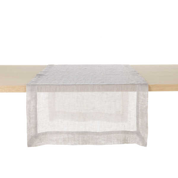 fjord washed table runner, libeco, table linen, - adorn.house