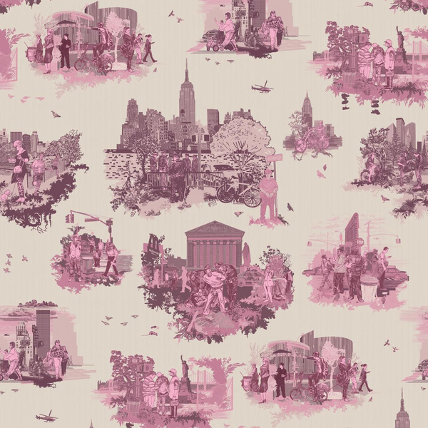 New York toile | wallpaper, timorous beasties, wallpaper, - adorn.house