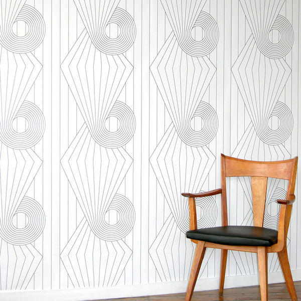 spiral, erica wakerly, wallpaper, - adorn.house