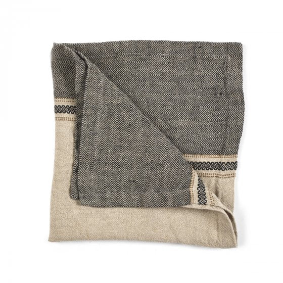 thompson- camel stripe napkin