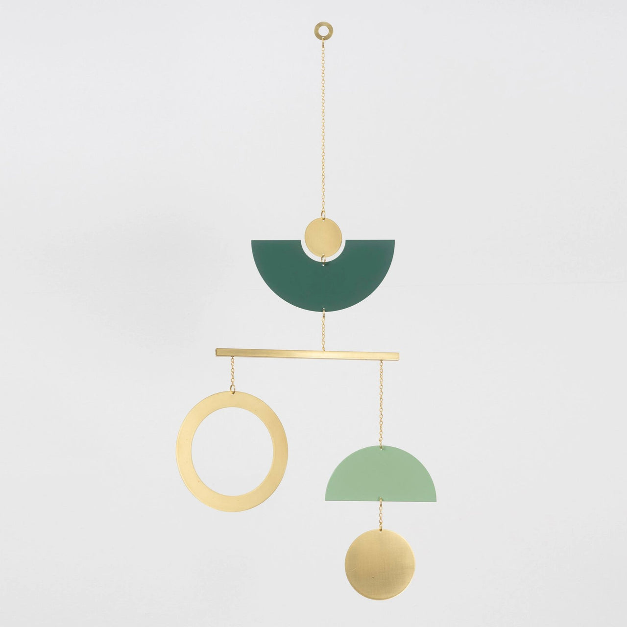 topiary mobile brass/green