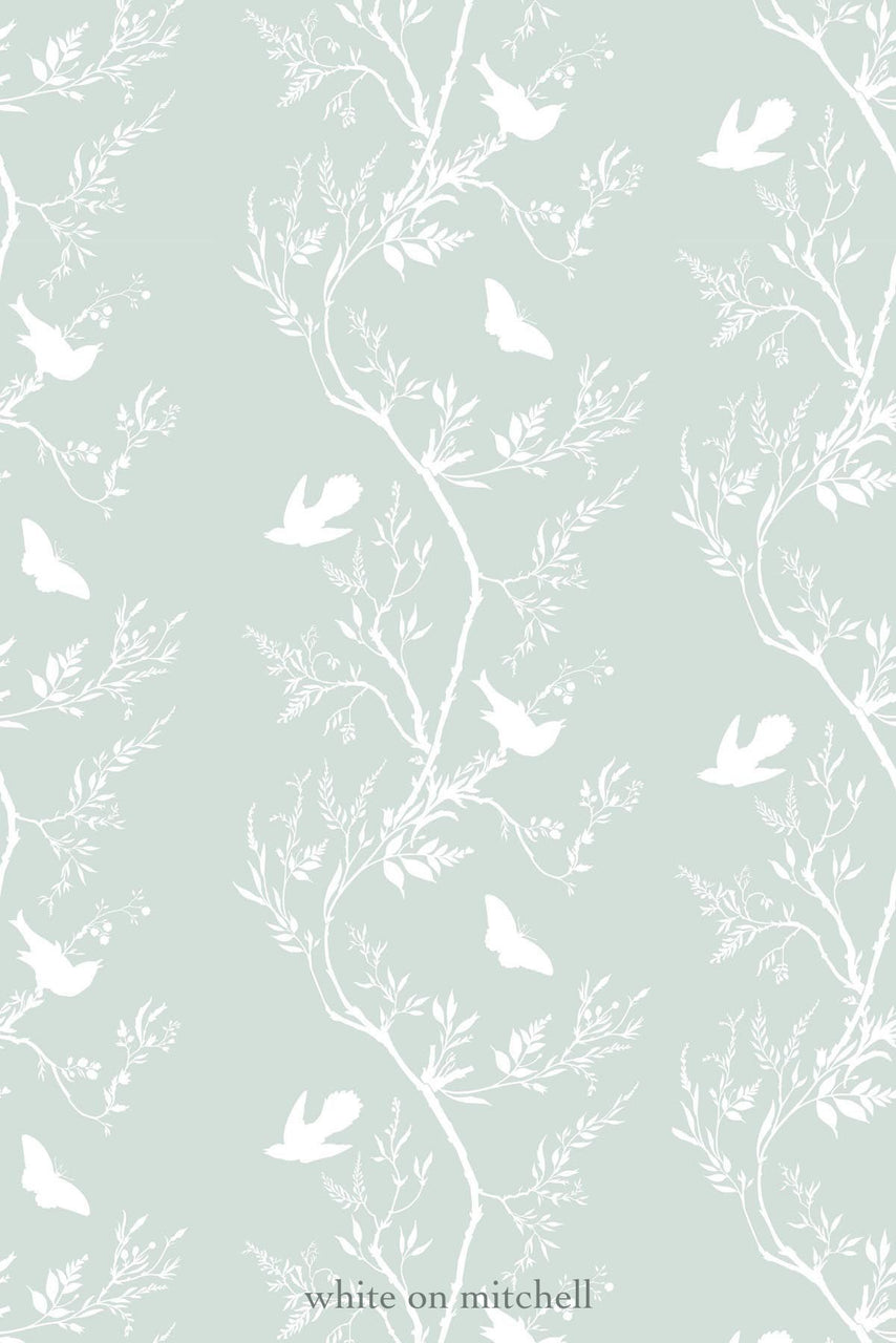 bird branch stripe  wallpaper, timorous beasties, wallpaper, - adorn.house