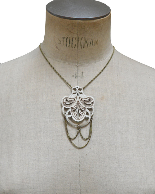 BELLA Ivory leather necklace, Elena Designs, Victoria BC