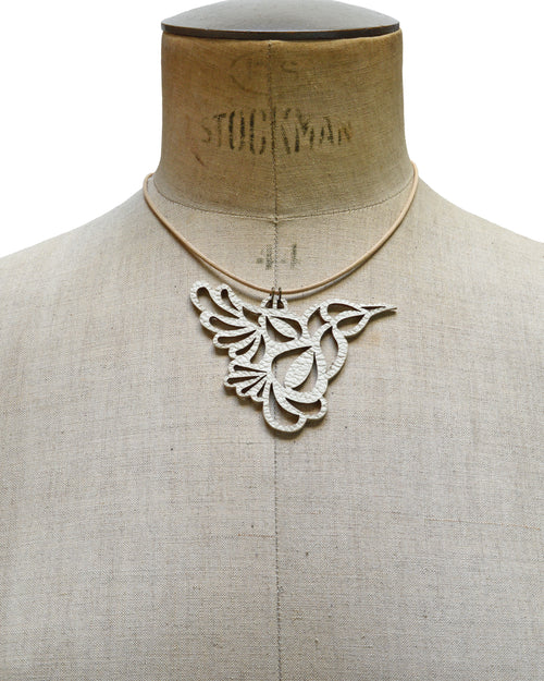 BIA Ivory leather necklace, Elena Designs, Victoria BC