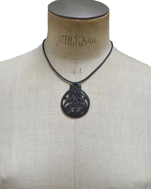 EIRENE Black leather necklace, Elena Designs, Victoria BC