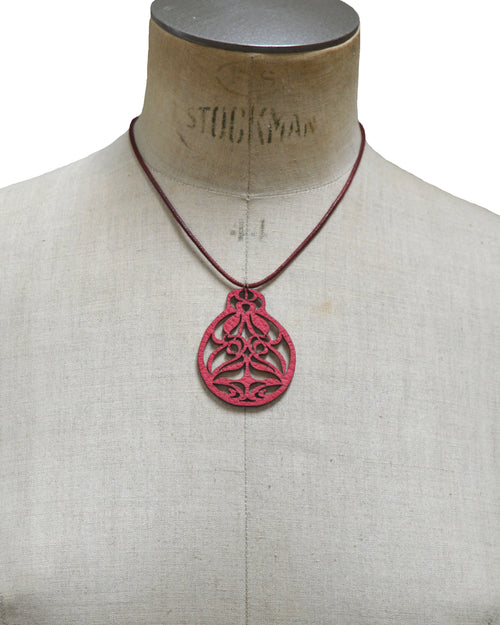EIRENE Deep Rose leather necklace, Elena Designs, Victoria BC
