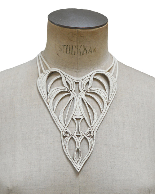 ENCHANTRESS Ivory leather necklace, Elena Designs, Victoria BC