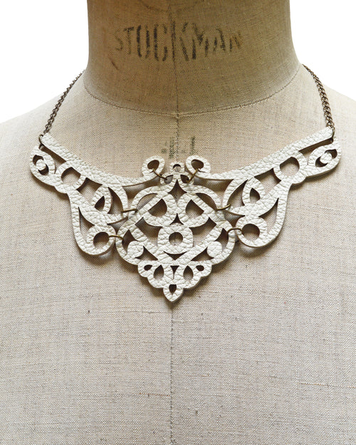 FREYA Ivory leather necklace, Elena Designs, Victoria BC