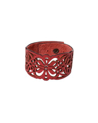 GAIA Deep Rose leather bracelet, Elena Designs, Victoria BC