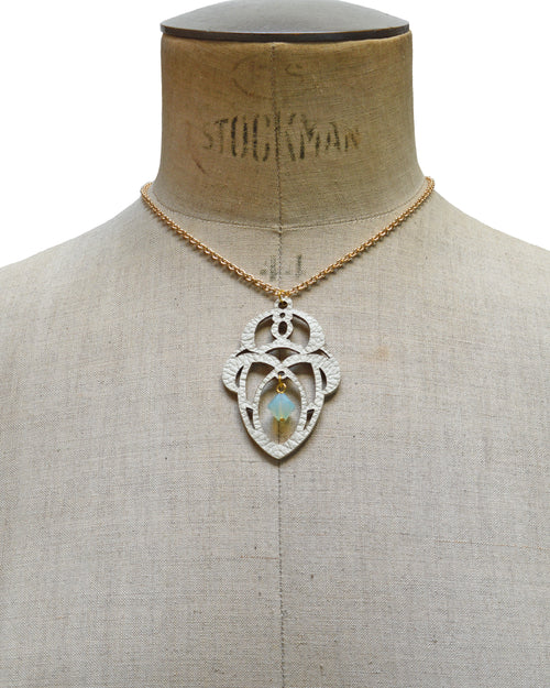 LUNA Ivory leather necklace, Elena Designs, Victoria BC