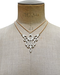 METIS Ivory leather necklace, Elena Designs, Victoria BC