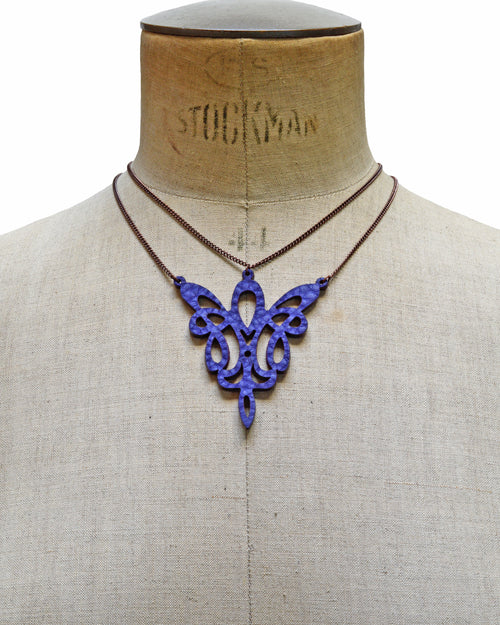 METIS Purple leather necklace, Elena Designs, Victoria BC
