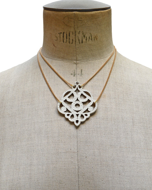 MINERVA Ivory leather necklace, Elena Designs, Victoria BC