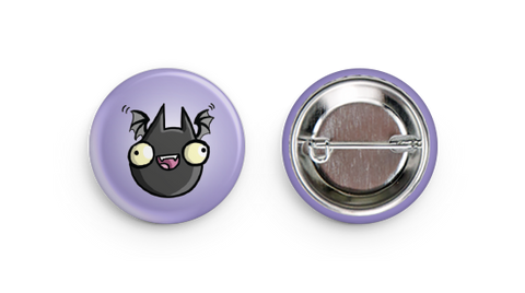 "1.25"" Fat Bat Button"
