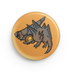 "1.25"" Earth Drake Hatchling Button"