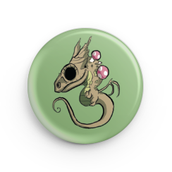"1.25"" Forest Dragon Hatchling Button"