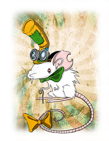 Mr. Rattington Art Print (Autographed)