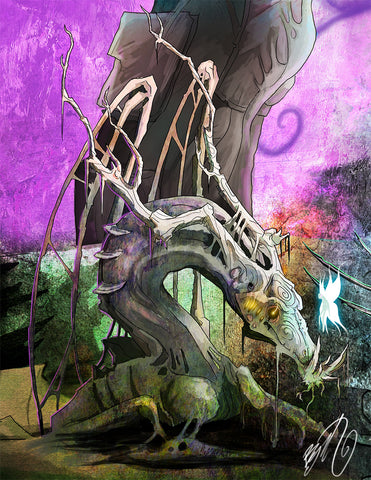 Wretchen The Forest Dragon of The Bileroot Bog Art Print (Autographed)