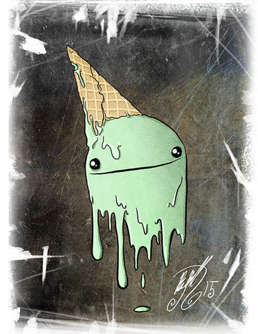 Ice Cream Ghost Art Print (Autographed)