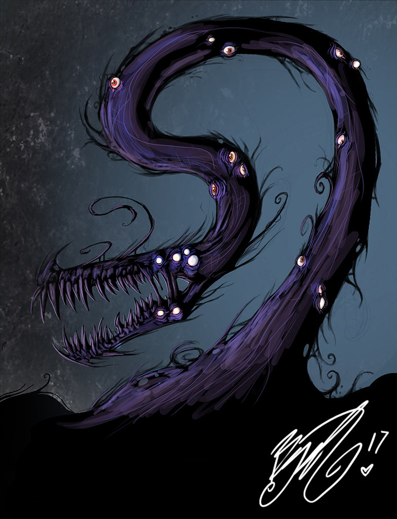 Ravikna The Black Serpent of Giant's Rest Art Print (Autographed)