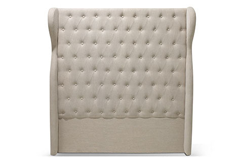 Wingback Chesterfield Bedhead Taupe