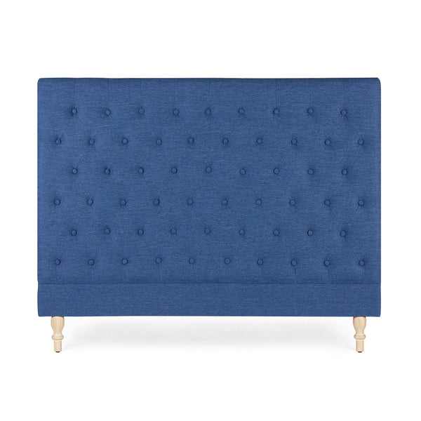 Charlotte Chesterfield Bedhead Queen Size Navy