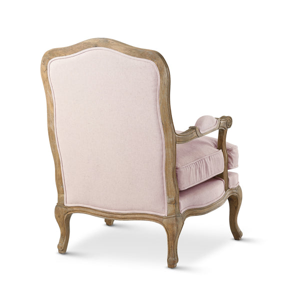 French Provincial Adele Occasional Armchair Dusty Pink