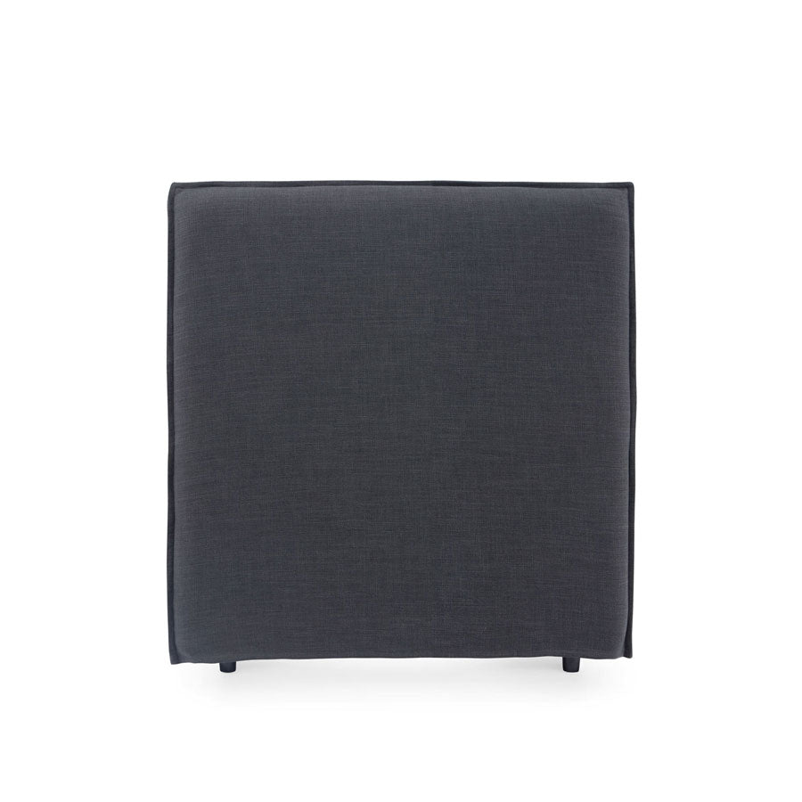 Juno Bedhead with Slipcover King Single Size Charcoal - Black Mango