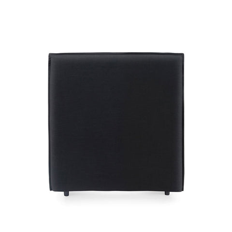 Juno Bedhead with Slipcover King Single Size Black - Black Mango