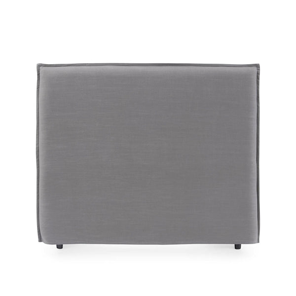 Juno Bedhead with Slipcover Double Size Wolf Grey - Black Mango