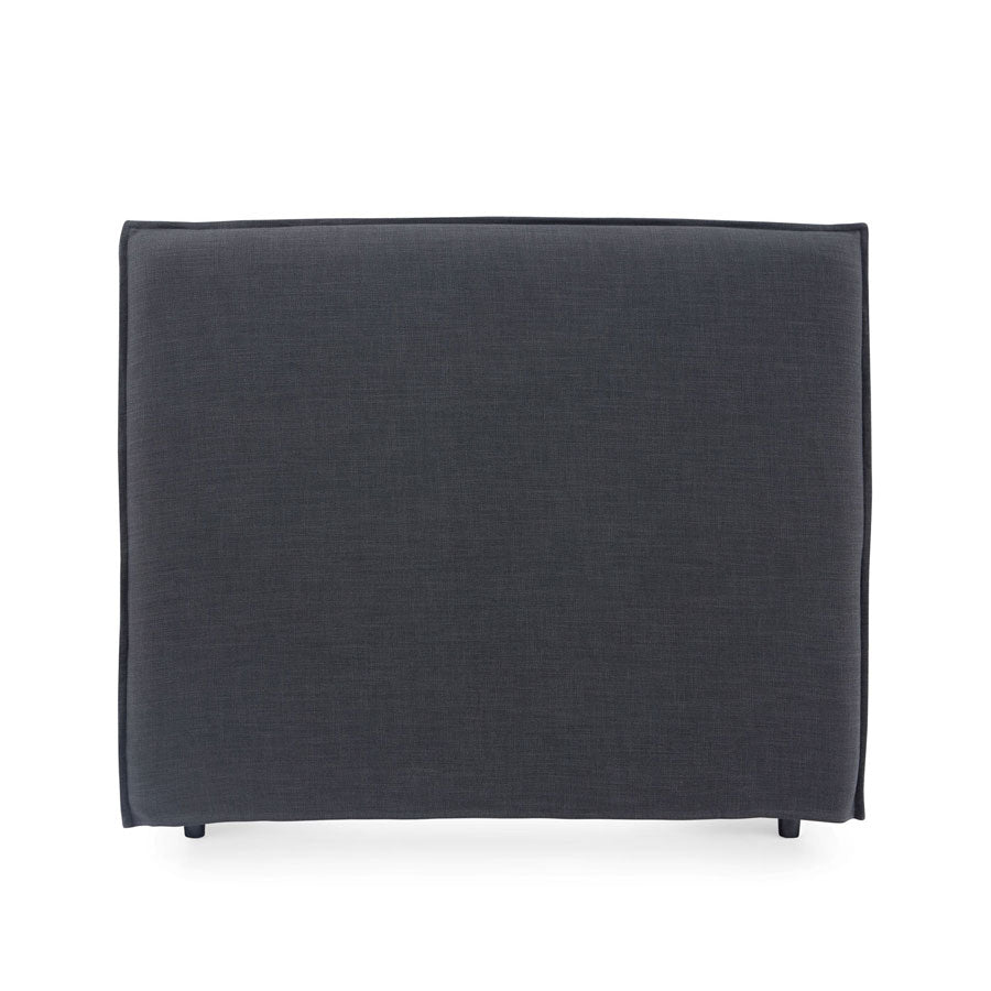 Juno Bedhead with Slipcover Double Size Charcoal - Black Mango