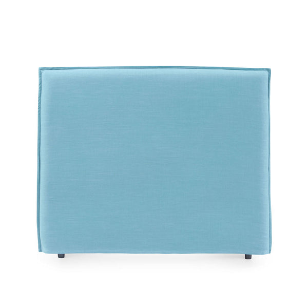 Juno Bedhead with Slipcover Double Size Teal - Black Mango