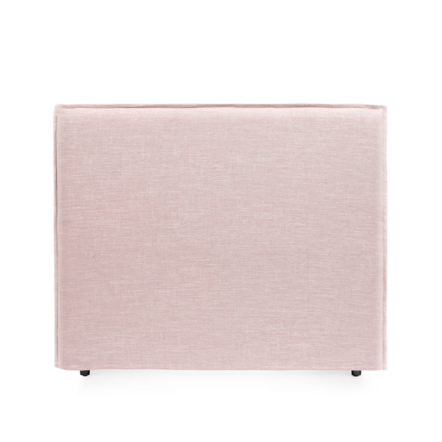 Juno Bedhead with Slipcover Double Size Dusty Pink - Black Mango