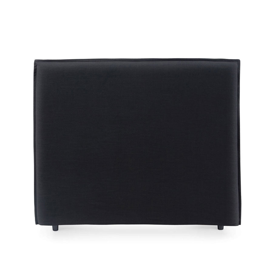 Juno Bedhead with Slipcover Double Size Black - Black Mango