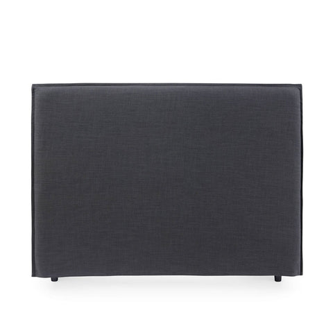 Juno Bedhead with Slipcover Queen Size Charcoal - Black Mango