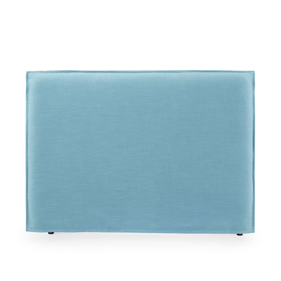 Juno Bedhead with Slipcover Queen Size Teal - Black Mango